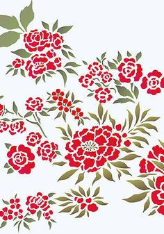 Chinese Flowers Stencil Theme Pack