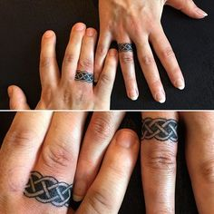 Trade Your Rings for These Adorable Finger Tattoos #ringtattoo #weddingringtattoo #weddingtattoo #tattoo #wedding #ring | ring tattoo| |wedding tattoo| Wedding Tattoo| |Tattoo| |Wedding| | wedding ring tattoo |