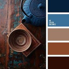 Image result for deep blue & brown interiors