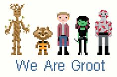 Guardians of the Galaxy Family Portrait Cross Stitch Pattern