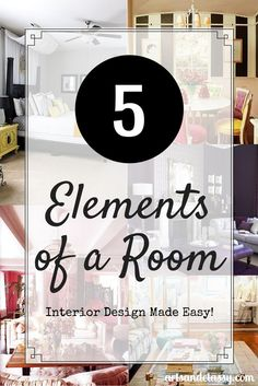 5 Elements of a Room with this article breaks down interior design tips and helps you see you rooms in a new way to better decorate your space via www.artsandclassy.com