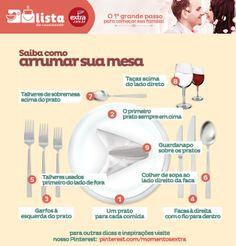 Sabe como arrumar uma bela mesa para o almoço em família? A lista de casamento do site do Extra dá a dica :)