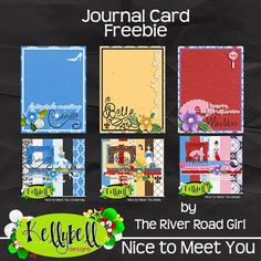 FREE Nice to Meet You Journal Cards by The River Road Girl
