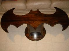 Batman coffee table. I know one nerd who would love this... (it's me!)