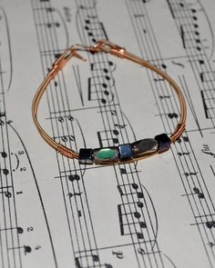 Recycled Guitar String Jewelry by JustLivSweetly on Etsy, $12.00