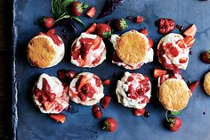 Find the recipe for Strawberry-Basil Shortcakes and other strawberry recipes at Epicurious.com