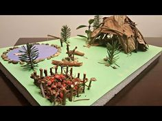 How to build All Natural Native American Wigwam and Village School Project - YouTube