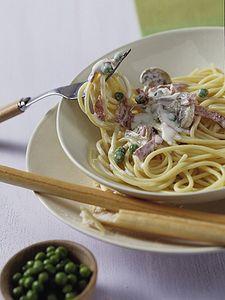 Spaghetti mit Schinken-Gemüsesauce