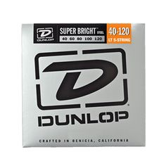 Dunlop Super Bright Stainless Steel Bass Strings 5-String Light 40-120