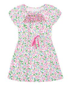 This White Floral Smocked Dress - Infant, Toddler & Girls is perfect! #zulilyfinds
