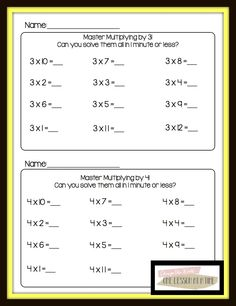 math worksheet : times table multiplication fact families fluency worksheets  : Math Masters Worksheets