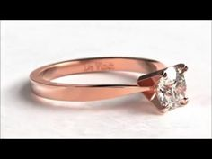 De Vindt Candice pink gold and white diamond ring - YouTube