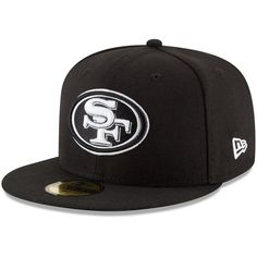 San Francisco 49ers New Era B-Dub 59FIFTY Fitted Hat - Black
