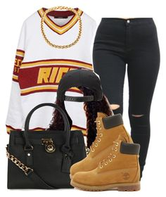 """""""."""" by trillest-queen ❤ liked on Polyvore featuring Joyrich, Michael Kors and Timberland"""