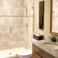 Showers stand up showers and tile on pinterest for 9x5 bathroom ideas