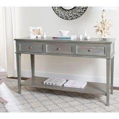 Grey Console Table With Storage