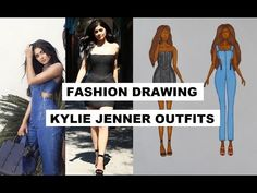 FASHION DRAWING | KYLIE JENNER OUTFITS BALMAIN BUBBLE DRESS - YouTube