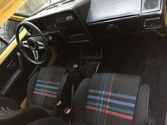 Find of the Day: 1981 Slammed Rabbit Pickup - VWVortex Mk1 Caddy, Steering Wheels, Car Interiors, Slammed, Car Seats, Rabbit, Interiors, Autos, Bunny
