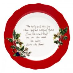Portmeirion The Holly and The Ivy Tea Plate 6 inch Set of 6 -Portmeirion UK .... these tea plates are beautiful too!