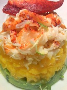 Chunky Mango Avacado and Lobster Salad...OMG try this...you're welcome LOL!