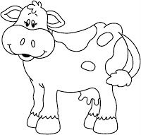 Great free clipart, png, silhouette, coloring pages and drawings that you can use everywhere. Cow Craft, Cow Drawing, Farm Animal Coloring Pages, Cartoon Cow, Farm Quilt, Black And White Cartoon, Handmade Baby Quilts, Cross Stitch For Kids, New Year's Crafts