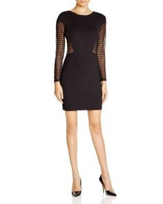 FRENCH CONNECTION Bette Sheer Panel Dress | Bloomingdale's