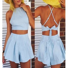 women's jumpsuits, womens jumpsuits for work, womens jumpsuits with sleeves, women's jumpsuits tall, Romper Jumpsuit Bodycon Clubwear Women Playsuit Party Trousers Ladies Sleeveless Pants Us Hot Bodysuit Casual Womens V Neck Short Long Backless Top, Chambray, Crop Top Und Shorts, Loose Shorts, Loose Crop Top, Two Piece Rompers, Estilo Indie, Summer Outfits, Cute Outfits