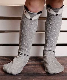 This Gray Fox Socks is perfect! #zulilyfinds