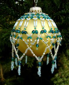 Beaded Christmas Ball Covers Patterns | FREE CHRISTMAS ORNAMENT BALL COVER PATTERNS TO CROCHET | Crochet