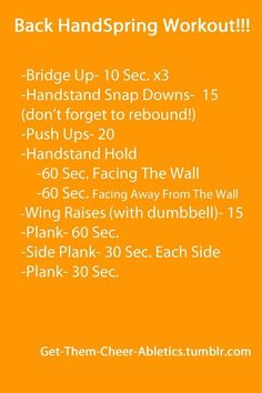 cheer quotes Back Handspring Workout Cheer Stretches, Gymnastics Stretches, Gymnastics Tricks, Gymnastics Skills, Gymnastics Coaching, Gymnastics Workout, Olympic Gymnastics, Olympic Games, Cheerleading Workouts