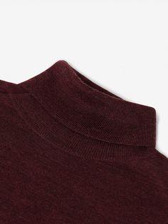 Helmut Plain Merino Wool - No Label Red Turtleneck, Fair Price, Merino Wool, Knitwear, Burgundy, Label, Turtle Neck, Sweaters, Fashion