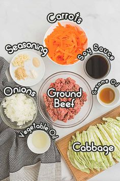 Ingredients to make an egg roll deconstructed in a bowl Can You Freeze Eggs, How To Make Eggs, Healthy One Pot Meals, Quick Weeknight Meals, Healthy Food, Healthy Eating, Frozen Egg Rolls, Food N, Food And Drink