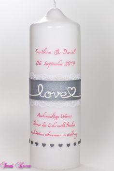 Hochzeitskerze love von Sannis Kerzen nach Wunsch auf DaWanda.com