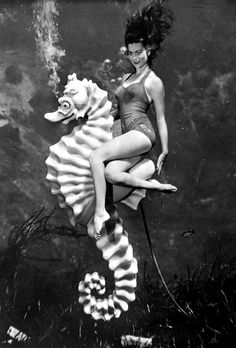 WeekiWachee Mermaid florida state archive 1960