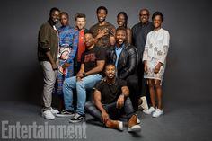 Team Black Panther:Daniel Kaluuya, Danai Gurira, Andy Serkis, Chadwick Boseman, Lupita Nyong'o, Forest Whitaker, Letitia Wright, Winston Duke, Michael B. Jordan, and director Ryan Coogler