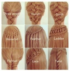 Coiffure natte cheveux longs shared by It gives me a thrill Hair And Beauty, Beauty Tips, Different Braids, Different Types Of Hairstyles, Types Of Braids, Tips Belleza, About Hair, Hair Hacks, Hair Goals