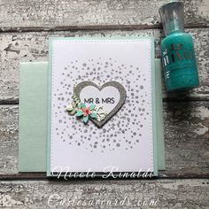 More Bitty Burst, because it's Friday, and this Stamp makes me so happy! Can you hug a stamp? Cute Cards, Diy Cards, Handmade Cards, Wedding Congratulations Card, Concord And 9th, Spirograph, Stamp Making, Valentine Day Cards, Creative Cards