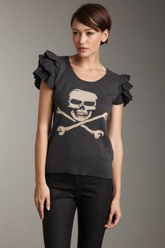 Puffy sleeves and skull and cross bones...i've always wanted to make something with sleeves like this