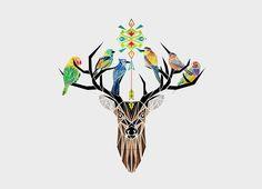 Deer Birds | Threadless https://www.threadless.com/product/5779/Deer_Birds/tab,girls/style,shirt