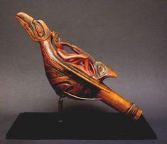 Northwest Coast Raven Rattle, Pacific Northwest Coast Native American Indian Art