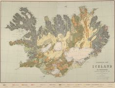 Geological Map of Iceland from 1901 #map #geology #iceland