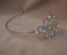 Rhinestone fancy Headband  / Bridal / Special by lyndahats on Etsy, $18.00