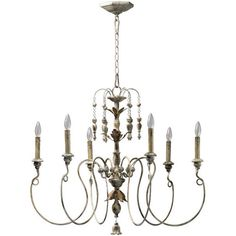 Classic-6-Light-Chandelier-Pendant-Hanging-Lamp-Ceiling-Fixture-Home-Lighting-Wh