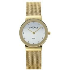 Sales Skagen Mirror Bezel Mesh Strap Watch 26mm price - Twinkling crystal indexes and a reflective bezel lend high shine to a demure round watch fitted with a comfortable mesh strap. Color (s) : gold. Brand: Skagen. Style Name: Skagen Mirror Bezel Mesh Strap Watch 26mm. Style Number:...