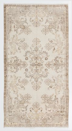 3.9x7.2 Ft  Muted Vintage Oushak Rug. Washed out by SplendidRugs
