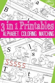 Alphabet Tracing Coloring Pages