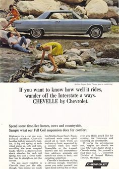 1965 Chevrolet Chevelle Malibu SS Ad by CollectiblesbyGramps, $5.00