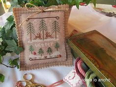 Winter forest - Little House needleworks