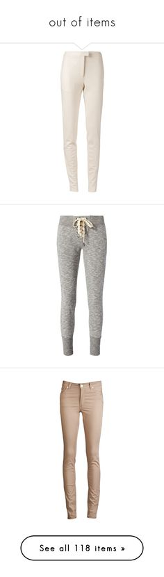 """""""out of items"""" by loveonedirection-i on Polyvore featuring pants, bottoms, pink pants, slim pants, pocket pants, slim fit trousers, slim trousers, activewear, activewear pants et sweatpants"""