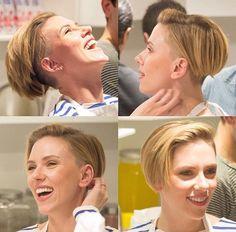 Scarlett Johansson undercut